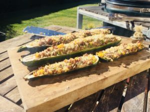 gegrillte Zucchini-Schiffchen
